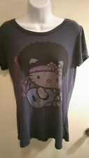 Hello Kitty T Shirt Ladies size 12 t shirt-Blue