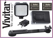 Video LED Light Kit With 2 Battery & Charger for Panasonic HDC-TM900 HDC-Z10000