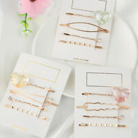 Accessories Gold  Hollow  Crystal Hairpins  Heart Hair Clips  Barrettes  Metal