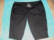 26W  BELLE CURVE BLACK  STRETCH  COTTON  CROP PANTS ZIP WIDE WAIST BAND NWT $29