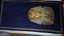 EGYPTIAN PHAROAH TUTANKHAMUN VOSSEN BEACH BATH TOWEL NAVY GOLD VELOUR RARE NEW