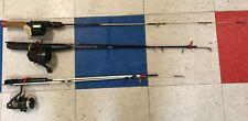 3: South Bend/Angler 535/ZEBCO Fishing Rode w/Fishing Time/Bronson/Johnson Reel