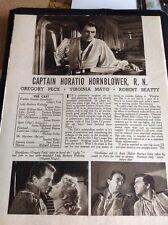 N1-1 Ephemera 1951 Article 2 Pages Captain Horatio Hornblower R N Greg Peck
