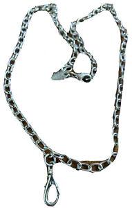 "Jewel Kade Silver Tone 12"" Charm Necklace Small Chain Link"