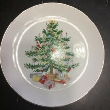 """Lefton 1064 Christmas Tree & presents 8"""" Salad Plate Holiday Gifts Party"""