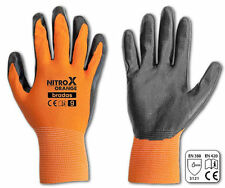 42 Paar Arbeitshandschuhe Gr. 9 Grip orange GWNO9 Monatagehandschuhe (0,67€/1PR)