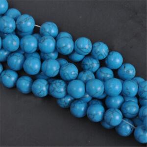 Round Natural Blue Turquoise Gemstone Loose Beads 6mm 30PCS