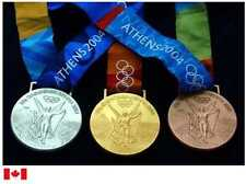 2004 Athens Olympic  Medals Set with Silk Ribbons