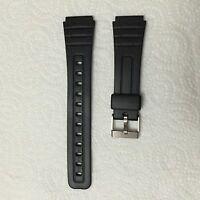 Replacement Watch Strap For Casio W59, F91 & F105 Black Resin (RG23) Free del.