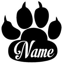 nom désiré Patte, Dog, Cat, Patte de chat chien mit Namen Autocollant Sticker