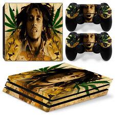 SONY PS4 PlayStation 4 Pro Skin Adesivo Pellicola Protettiva Set - Bob Marley