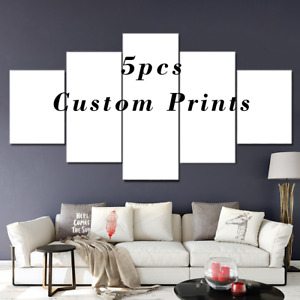5Pcs Custom Poster Print Your Photo Text Personalised Poster Canvas Home Decor
