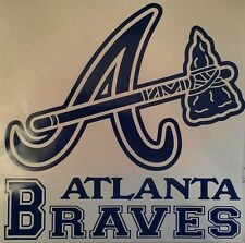 Atlanta Braves Decals Blue Cornhole Board Decals - 2 Free Hole Decals