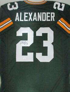 Packers JAIRE ALEXANDER Signed Custom Replica Green Jersey AUTO - JSA