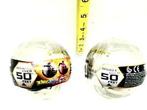 X2 Zing Sportz Metal Tek Softek Balls Bounce Over 50 Feet Silver