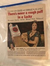 1950 Lucky Strike Cigarette Ad Hollywood Movie Star Hedy Lamarr As Delilah