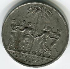 1834: England's Abolition of Slavery, 41mm, white metal,  rare