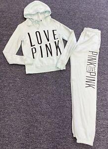 Victorias Secret PINK Hoodie Sweatshirt & Jogger Sweatpants Womens XS Sweatsuit