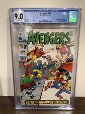 AVENGERS 70 CGC 9.0 1ST APPEARANCE OF THE SQUADRON SINISTER