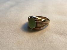 Vintage 10k Gold Jade Ring Mens