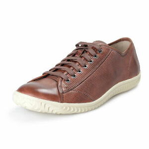John Varvatos Star USA Leather Hattan Low Top Sneakers Shoes US 8.5 IT 41.5