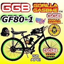 "New Diy 2-Stroke 66Cc/80Cc Motorized Bicycle Kit With 26"" Power Cruiser Bike!"