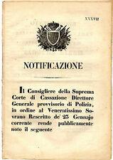 Regolamento Nuova Ferrovia Maria Antonia Servizi Sicurezza Comodità Viaggi 1848