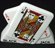 Genuine Wade Porcelain Black Jack Wall Pocket