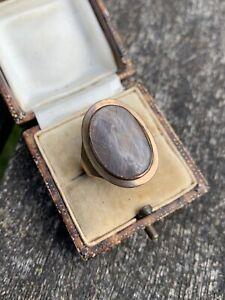 Georgian C.1828 Locket Front Hair Ring in Memory Of Two People