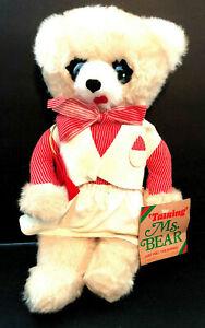 Commonwealth Vtg Talking Ms Bear Pull String Plush Working Stuffed Animal toy