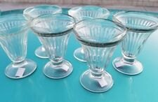 6pc set Ice Cream Sundae GLASS CLEAR DESSERT SHERBET DISHES