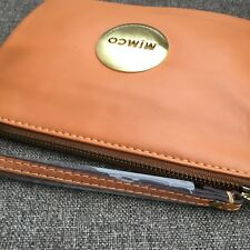 Mimco Honey Tan Leather Medium pouch wallet • 100% Authentic• Express Delivery