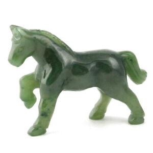 Genuine Canadian Nephrite Jade Horse Figurine - Multiple Sizes