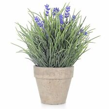 Artificial Flowers Arrangements Velener  Provence Lavender  In Pots For Home