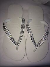 Crystal wedding  flip flops Havaianas made with SWAROVSKI Elements Bling crystal