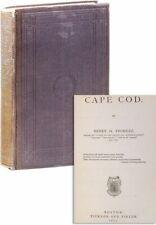 Thoreau CAPE COD 1st ed 1865 in Very Good original cloth