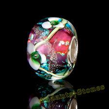 ANDANTE-STONES MASSIV 925 SILBER MURANO GLAS SEALIFE BEAD ROT #1695 + GESCHENK