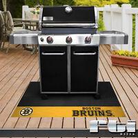 "Boston Bruins NHL Hockey Vinyl BBQ Patio Outdoor Grill Mat Rug 26"" x 42"""