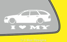 2x LOVE LOW Mercedes C-Class W202 Estate Wagon sticker for C 230 Kompressor 240