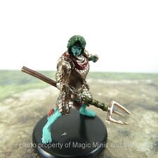 Monster Menagerie III ~ TRITON FIGHTER #38a Icons of the Realms 3 D&D rare mini