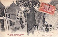 CPA AFRIQUE occidentale DAKAR SENEGAL 165 village femme nue timbrée 1915