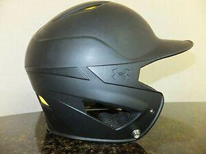 Under Armour Baseball Batting Helmet Matte Black Size 6.5 - 7.5 UABH2-100 Youth