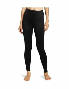 NEW Duofold Women's Mid Weight Varitherm Thermal Leggings Black Small Tights NIB