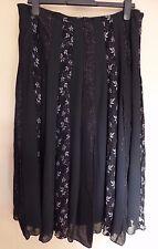 Per Una Collezione UK16R EU44R US12R new black panel skirt with glitter and lace