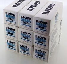 Ilford nueve rollos de Delta 100 120 película 100iso. 07/2006 obsoletos