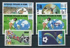 Benin 383,384,386,387,388 + 390 postfrisch / Fußball ......................1/278