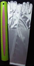 Dressy Girl's White Satin Elbow Gloves Communion or Wedding Sz 7-14 yrs - 400CEL