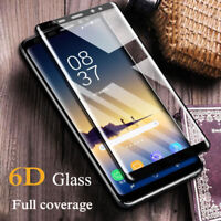 6D Full Cover Tempered Glass Screen Protector Samsung Note 8 9 S9 S8 Plus S7 S6
