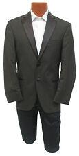 New Men's Brown Calvin Klein Tuxedo Suit Jacket Cadbury Super 100's Wool 38L