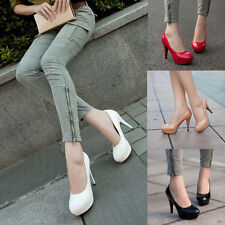 Women Sexy High Heels Pumps Platform Strappy Buckle Stiletto Party Wedding Shoes